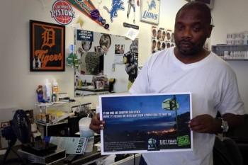 Reggie Shephard of Rog's Barber Shop in Dayton OH