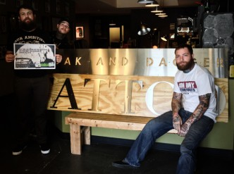 Photo of Cloak and Dagger Tattoo artists, from left Owner Britton Asbury, Nathan Palmer and Steve Ratcliffe